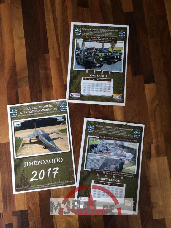 2017 Kalender des SISO-Club Griechenland im März 2017 erhalten