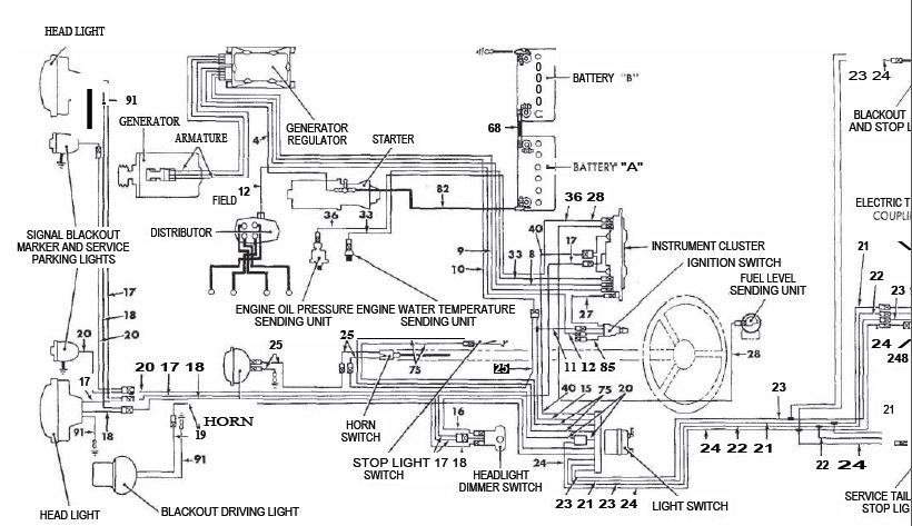 1946 willys jeep wiring diagram